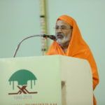 Swami Sadatmananda'addressing the gathering